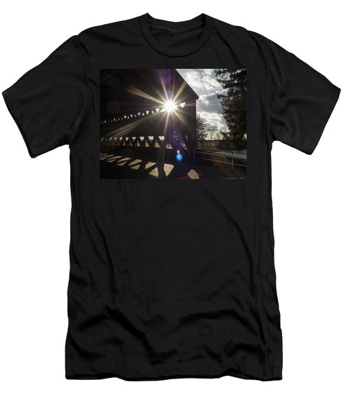 Sunlight Through Sachs Covered Bridge  Men's T-Shirt (Athletic Fit)