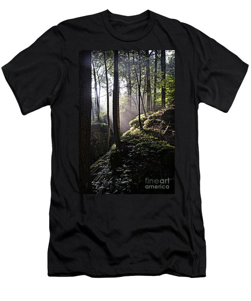 Sunlight Through Trees At Beartown State Park 3129c Men's T-Shirt (Athletic Fit)