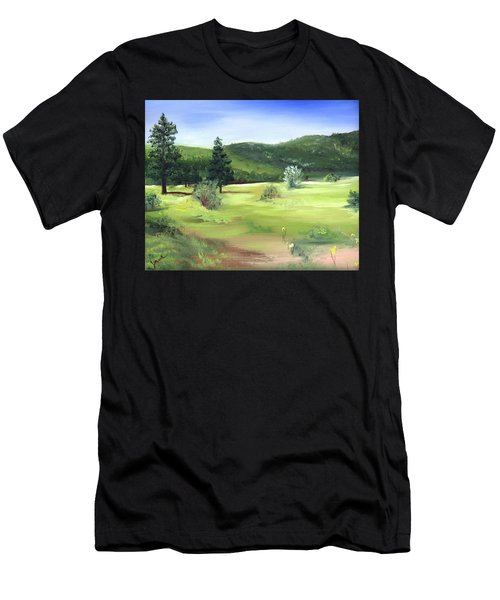 Sunlit Mountain Meadow Men's T-Shirt (Athletic Fit)