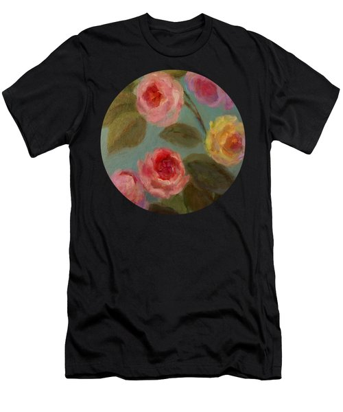 Sunlit Roses Men's T-Shirt (Athletic Fit)