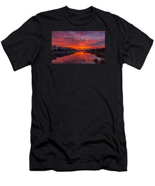 Sunlit Sky Over Morgan Creek -  Wild Dunes On The Isle Of Palms Men's T-Shirt (Athletic Fit)