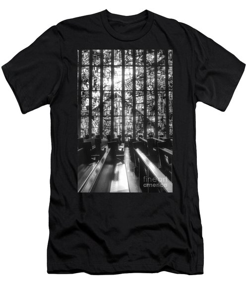 Sunlit Stained Glass At Czestochowa Shrine, Pa Men's T-Shirt (Athletic Fit)