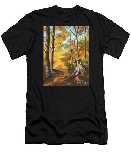 Sunlit Tree Trunk Men's T-Shirt (Athletic Fit)