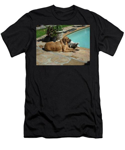 Sunning Men's T-Shirt (Slim Fit) by Val Oconnor