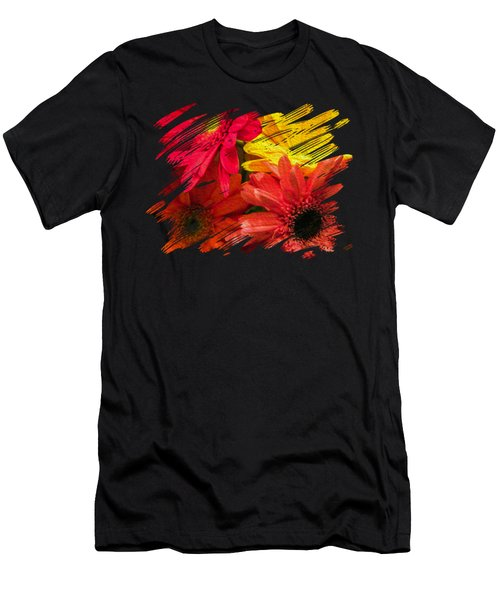 Sunny Daisy Flower Art Men's T-Shirt (Athletic Fit)