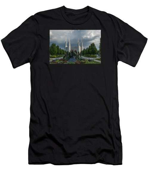 Sunny Day With Clouds Men's T-Shirt (Athletic Fit)