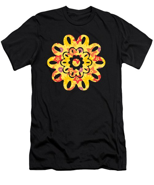 Men's T-Shirt (Athletic Fit) featuring the digital art Sunny Flowers by Becky Herrera