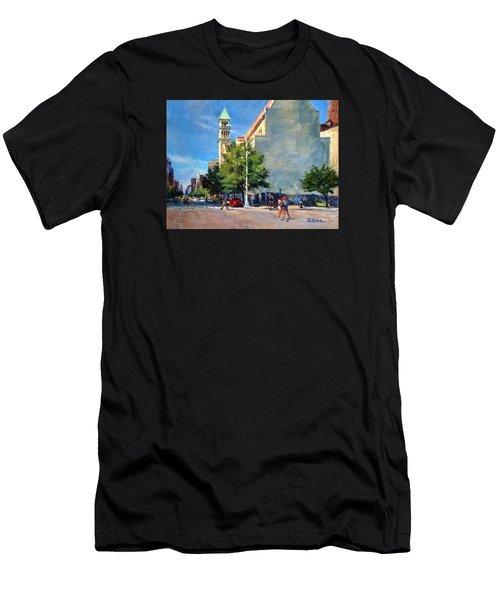 Summer Morning Near St. Michael's Church, Amsterdam Ave. Men's T-Shirt (Athletic Fit)