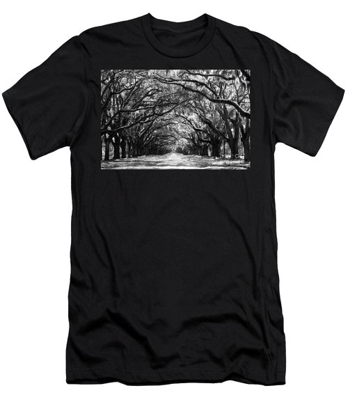 Sunny Southern Day - Black And White Men's T-Shirt (Athletic Fit)