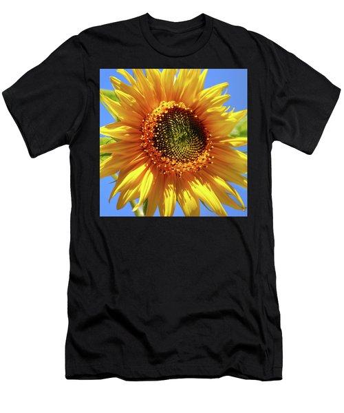 Sunny Sunflower Square Men's T-Shirt (Athletic Fit)
