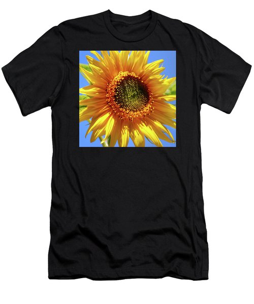 Sunny Sunflower Square Men's T-Shirt (Athletic Fit)