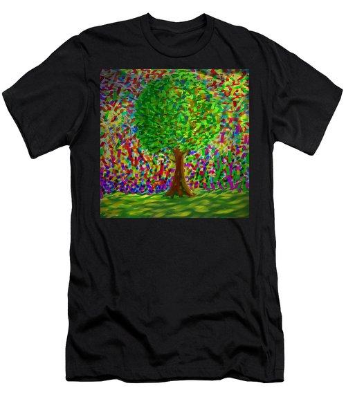 Sunny Tree Men's T-Shirt (Athletic Fit)