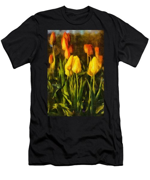 Sunny Tulips Men's T-Shirt (Athletic Fit)