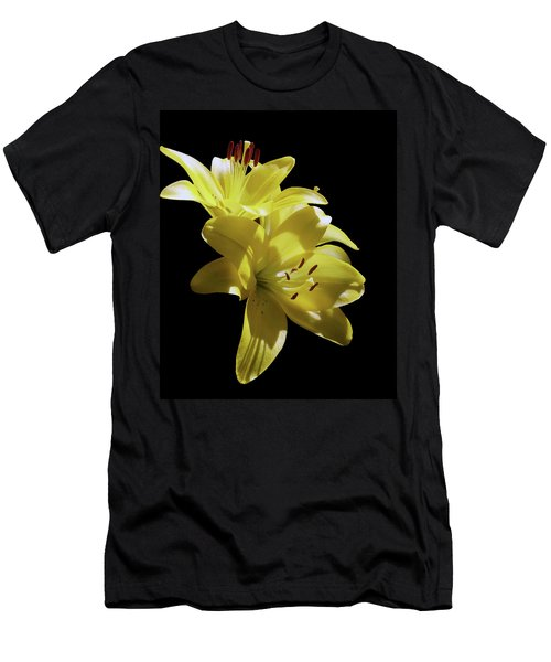 Sunny Yellow Lilies Men's T-Shirt (Athletic Fit)