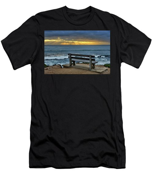 Sunrays On The Horizon Men's T-Shirt (Athletic Fit)