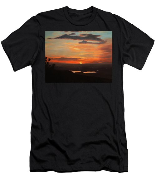 Sunrise Above Boulder Men's T-Shirt (Athletic Fit)