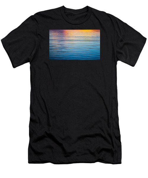 Sunrise Abstract On Calm Waters Men's T-Shirt (Athletic Fit)