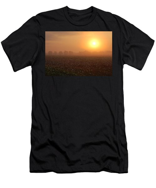 Sunrise And The Cotton Field Men's T-Shirt (Athletic Fit)