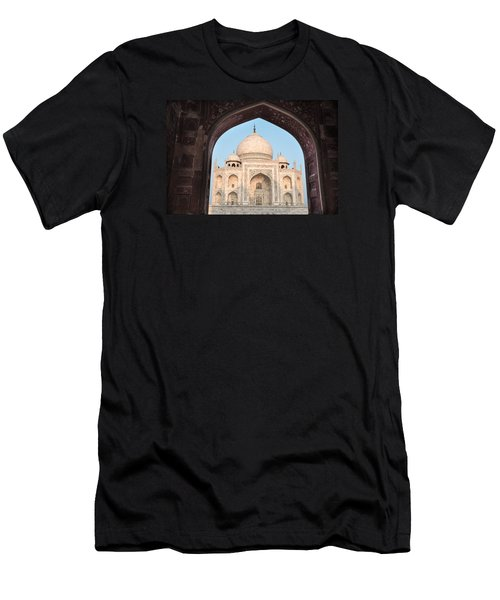 Sunrise Arches Of The Taj Mahal Men's T-Shirt (Athletic Fit)