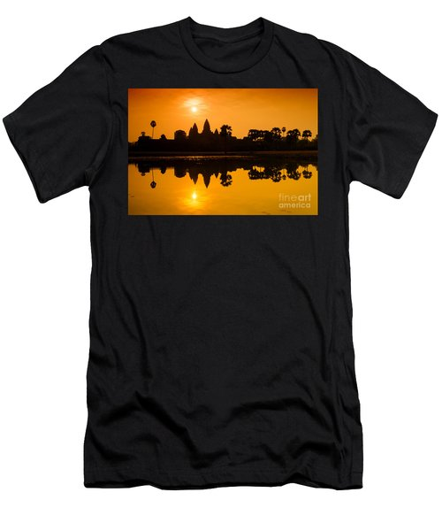 Sunrise At Angkor Wat Men's T-Shirt (Slim Fit) by Yew Kwang