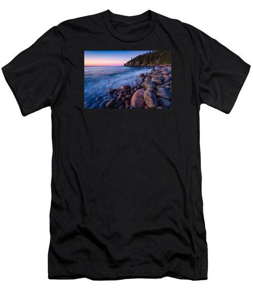 Sunrise At Boulder Beach Acadia Np Men's T-Shirt (Athletic Fit)