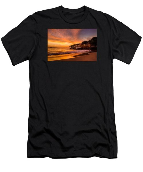 Sunrise At Copacabana Beach Rio De Janeiro Men's T-Shirt (Athletic Fit)