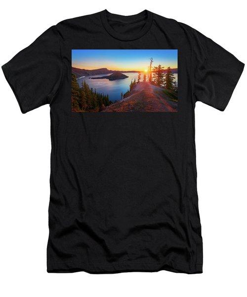 Sunrise At Crater Lake Men's T-Shirt (Athletic Fit)