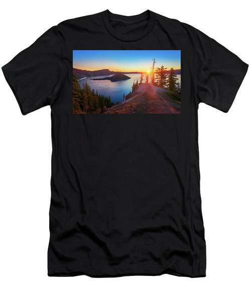 Men's T-Shirt (Athletic Fit) featuring the photograph Sunrise At Crater Lake by John Hight