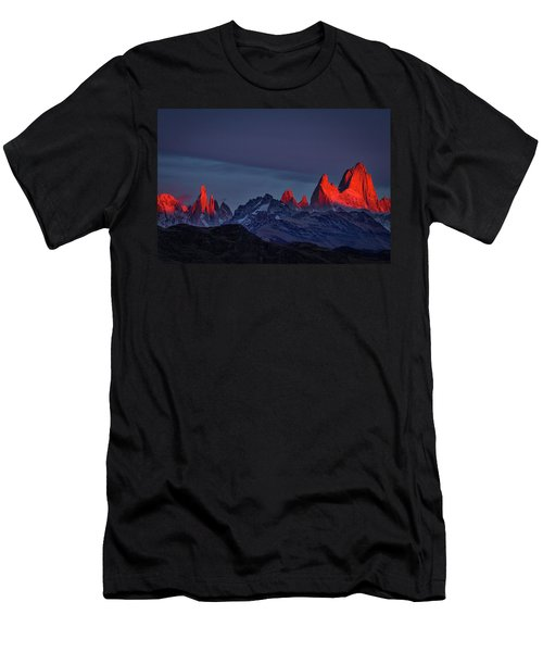 Sunrise At Fitz Roy #2 - Patagonia Men's T-Shirt (Athletic Fit)