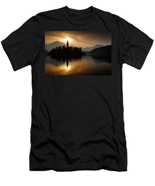 Sunrise At Lake Bled Men's T-Shirt (Athletic Fit)