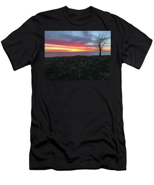 Sunrise At Lake Sakakawea Men's T-Shirt (Athletic Fit)