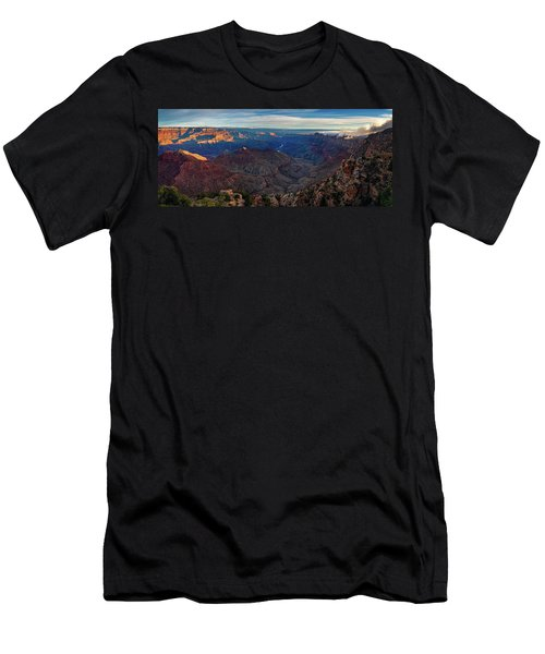 Men's T-Shirt (Athletic Fit) featuring the photograph Sunrise At Navajo Point by John Hight