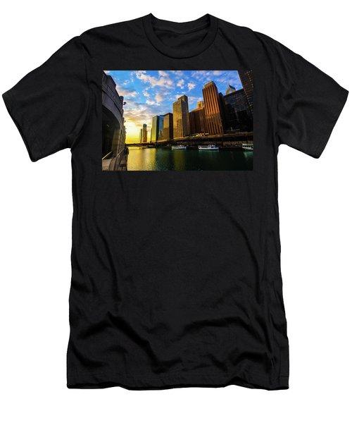 Sunrise At Navy Pier Men's T-Shirt (Athletic Fit)