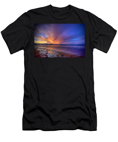 Sunrise At Newborough Men's T-Shirt (Athletic Fit)