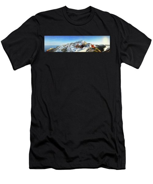 Sunrise At Oia Men's T-Shirt (Athletic Fit)