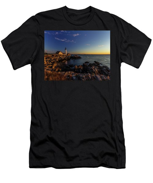 Sunrise At Portland Headlight Men's T-Shirt (Athletic Fit)