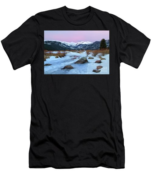 Sunrise At Rocky Mountain National Park Men's T-Shirt (Athletic Fit)