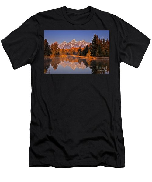 Sunrise At Schwabacher Landing  Men's T-Shirt (Athletic Fit)