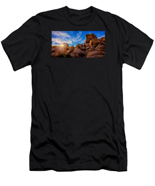 Men's T-Shirt (Athletic Fit) featuring the photograph Sunrise At Skull Rock by Rikk Flohr