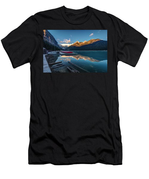 Sunrise At The Canoe Shack Of Lake Louise Men's T-Shirt (Athletic Fit)
