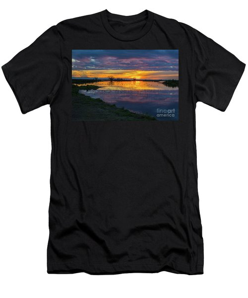 Sunrise At The Merced National Wildlife Refuge Men's T-Shirt (Athletic Fit)