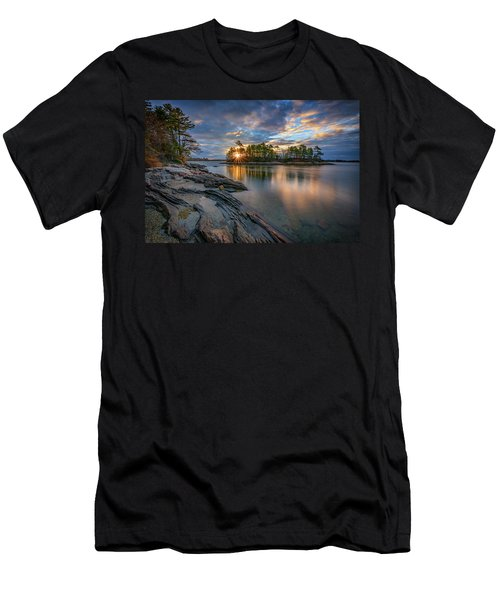 Men's T-Shirt (Slim Fit) featuring the photograph Sunrise At Wolfe's Neck Woods by Rick Berk
