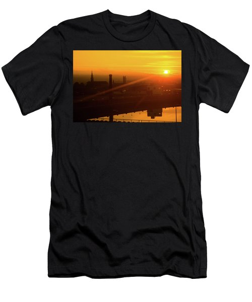 Sunset Belfast Men's T-Shirt (Athletic Fit)
