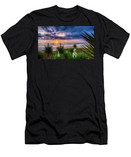 Sunrise Blooms Men's T-Shirt (Athletic Fit)