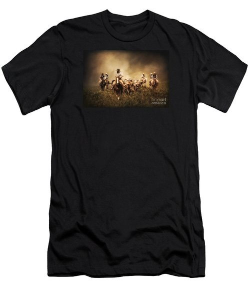 Sunrise Cattle Drive Men's T-Shirt (Athletic Fit)