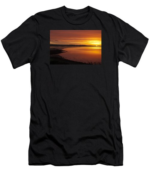 Men's T-Shirt (Slim Fit) featuring the photograph Sunrise Dornoch Firth Scotland by Sally Ross