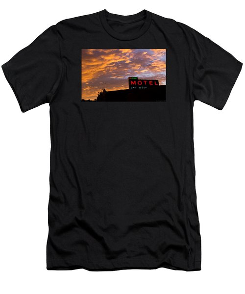 Sunrise Enters Capitola Men's T-Shirt (Slim Fit) by Lora Lee Chapman