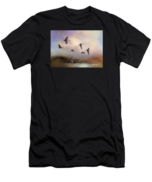 Sunrise Flight Men's T-Shirt (Athletic Fit)