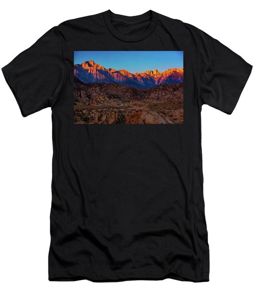 Men's T-Shirt (Athletic Fit) featuring the photograph Sunrise Illuminating The Sierra by John Hight