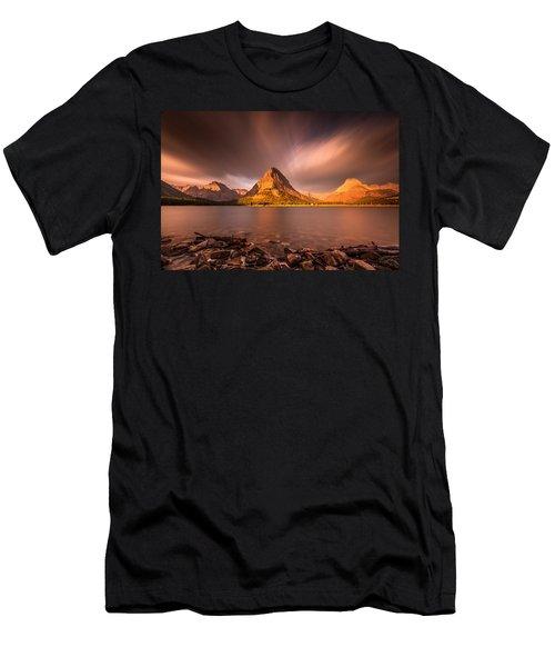 Sunrise In Glacier National Park Men's T-Shirt (Athletic Fit)